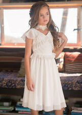 NWT Joyfolie Harlow Dress in Creme + Melina Choker Necklace Girls sz 7