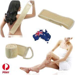 Exfoliating Back Strap Bath Shower Body Scrubber Brush Body Sponge Towel Loofah