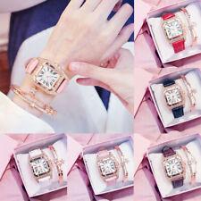 Luxury Women's Leather Crystal Casual Analog Quartz Wrist Watches Wristwatch