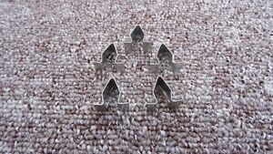 9 x 16MM AUDI METAL INTERIOR TRIM PANEL LINING UPHOLSTERY SPRING CLIPS