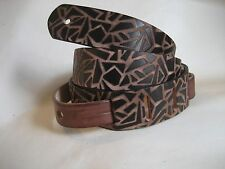 LEATHER 38MM BROWN AZTEC STONEWASHED BASS, ACOUSTIC GUITAR STRAP