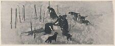 D7862 Cani San Bernardo eseguono salvataggio - Stampa d'epoca - 1937 old print