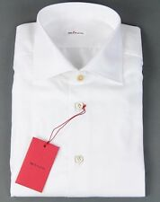 New Kiton Napoli Handmade White Dress Shirt Size 17.5 44 NWT