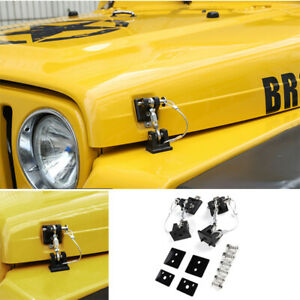 Fit For Jeep Wrangler TJ 97-2006 Black Anti-Thief Hood Lock Catch Latches Cover