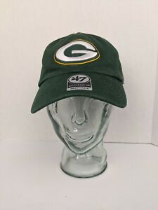 NEW Green Bay Packers 47 Brand Clean Up Cotton Adjustable On Field Hat Cap
