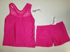 NEW Top Shorts Set Size 4-6 XS SC Lot Dance Jazz Cheer Gymnastic Leotard Pink