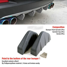 Promotion Rear Bumper Diffuser Molding Point Garnish Gray 2P for Universal Car(Fits: Ford Manual)