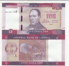 LIBERIA 5 DOLLARS 2016 NEUF UNC