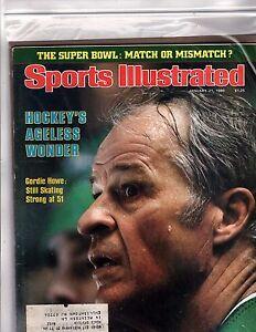 Sports Illustrated Gordie Howe Super Bowl match or mismatch  Jan 80 (OZ173)