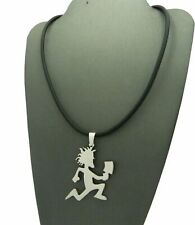 """16"""" + Extension Black Cord Necklace Stainless Steel Hatchet Man Pendant & 2mm"""
