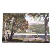 Scotland Loch Achray Postcard Antique Trossachs Hotel Stirling Council Unposted