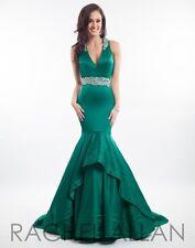 Rachel Allan Prima Donna 5804 Hunter Green Stunning Pageant Gala Gown Dress sz 0