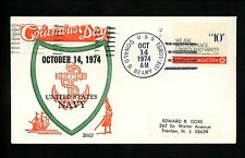 US Naval Ship Cover USS Beary DE-1085 Vietnam War 10/14/1974 Columbus Day