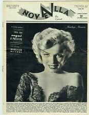 New listing MARILYN MONROE Cover Magazine 1953 Italy Vintage Weekly Issue Sexy Novella 1