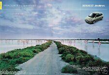 Publicité Advertising 2001 (2 pages) Renault Scenic