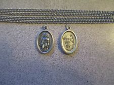 St Peregrine Card (Patron of those who have suffered w/ Cancer) Medal on Chain