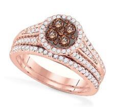 14K Rose Gold Diamond Engagement and Wedding Ring Set 1.0ct - 14K Wedding Band