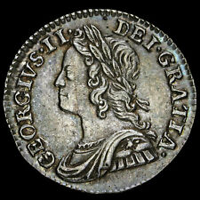 More details for 1746 george ii early milled silver maundy twopence, g/ef