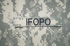 VELCRO® IFOPO Name Tape ACU Pattern Military Patch Used Authentic