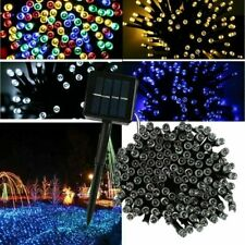Solar Battery String Fairy Lights 100 LED 10m RedGreenBlue In/Out Garden Party