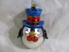 Christopher Radko Christmas Ornament Sparkle Bright Roly Poly Penguin (Nib)