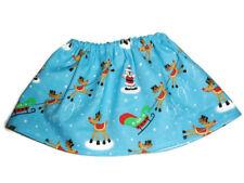 "Santa & Reindeer  Skirt fits American Girl 18"" Doll Clothes Christmas"