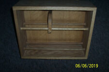 "cd/dvd solid oak storage rack 18"" wide"
