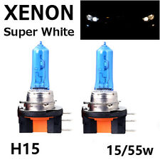 2 x H15 15/55W DRL MAIN BEAM HEADLIGHT SUPER WHITE XENON BULBS HID ULTRA BRIGHT