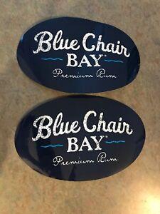 2 Blue Chair Bay Rum Stickers. Kenny Chesney Island Life 🏝 XL. 🍹SALE