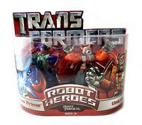 Optimus Prime & Unicron Transformers Robot Heroes Action Figures Set New Hasbro
