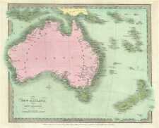 1834 Burr Map of Australia and New Zealand