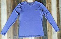 Nike Pro Combat Dri Fit Fitted Long Sleeve Athletic Shirt Purple Sz M