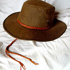 Outback Trading Co 1486 Grizzly Worn Oilskin Waterproof Classic Hat Mens Small