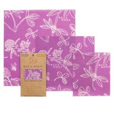 Bee's Wrap - Assorted 3 Pack - Clover Purple - Organic cotton food wraps