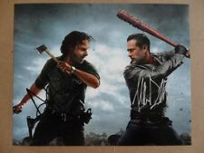 """Jeffrey Dean Morgan Andrew Lincoln Signed ~~Autographed Photo """"Walking Dead"""""""