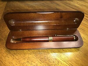 Vintage The Bombay Co Wood Pen and Case