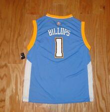 Chauncey Billups Denver Nuggets Basketball Jersey NWT Size L Youth Blue 1 Adidas