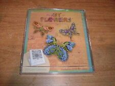 The Art of Flowers CD Case 2011 Calendar Collages of Linda Maron 12 Month NEW