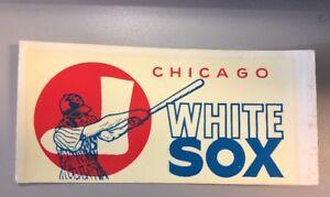NEW UNUSED RARE 1960's Chicago White Sox Baseball Club MLB Decal Sticker Grafco