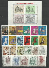 WEST GERMANY BERLIN 1969 COMPLETE YEAR STAMP COLLECTION 23v & 1 S/Sheet MNH