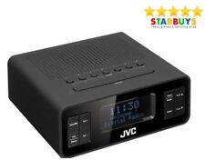 JVC RA-D38B DAB & FM Dual Alarm Clock Radio Digital Display & Headphone Jack