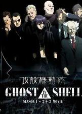 DVD Ghost in The Shell Season 1 + 2 + 3 Movie English Dub + Free Shipping