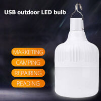 Portable LED Camping Light Bulb USB Rechargeable Outdoor Tent Emergency Lamp