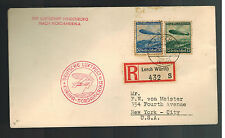 1936 Lorch Germany Hindenburg Zeppelin first flight cover to USA  LZ 129 FFC