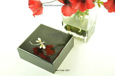 Decorative Handmade Lacquered Inlaid Wooden Square Box, Black Medium H021M