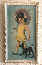 Vintage Retro Art Print Picture Dallas Simpson Girl & Poodle - Tretchikoff Era