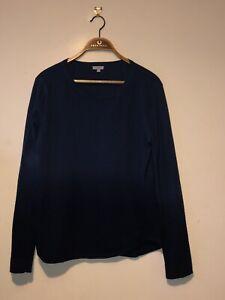 Mens Medium Jigsaw Jumper Rare Two Tone Blue Cashmere Wool Designer Jumper