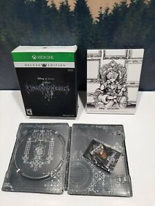 Kingdom Hearts 3 Deluxe Edition Xbox One Box Steelbook Case and Pin Only NO GAME