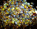 10g DOMINICAN CLEAR BLUE-ISH GREEN ORANGE GREEN AMBER NUGGET STONES
