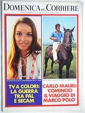 DOMENICA DEL CORRIERE   5 settembre  1972   N. 36 CARLO MAURI // POSTER FERRARI